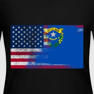 Nevada American Flag Fusion - Women's Long Sleeve Jersey T-Shirt