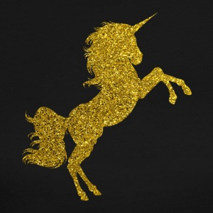 Golden Unicorn - Gold Glitter Horse Fable Tale - Women's Long Sleeve Jersey T-Shirt