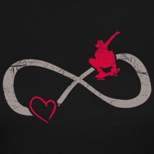 Infinite Love ∞ I Love Skateboarding ∞ Red Skater - Women's Long Sleeve Jersey T-Shirt