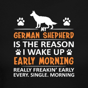 My German Shepherd Is Reason I Wake Up - Women's Long Sleeve Jersey T-Shirt