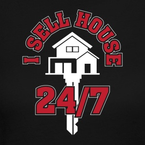 I Sell Houses 24 7 Funny Realtor Gifts - Women's Long Sleeve Jersey T-Shirt