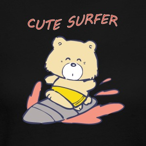 CUTE SURFER Bear - Women's Long Sleeve Jersey T-Shirt