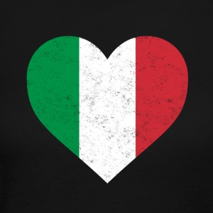 Italy Flag Shirt Heart - Italian Shirt - Women's Long Sleeve Jersey T-Shirt