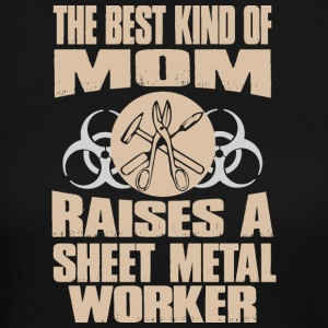 The Best Kind Of Mom Raises A Sheet Metal Worker - Women's Long Sleeve Jersey T-Shirt