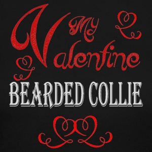 A romantic Valentine with my Bearded Collie - Women's Long Sleeve Jersey T-Shirt