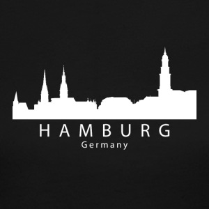 Hamburg Germany Skyline - Women's Long Sleeve Jersey T-Shirt