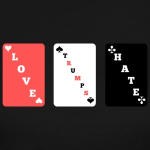 LOVE TRUMPS HATE - Playing cards style - Women's Long Sleeve Jersey T-Shirt