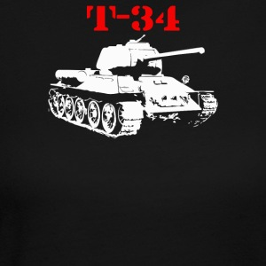 T 34 Soviet Russin World War II Tank - Women's Long Sleeve Jersey T-Shirt