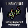 Put style in freestyle - Women's Long Sleeve Jersey T-Shirt