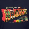 New York Bronx Post Card Vintage Retro Clothing - Women's Long Sleeve Jersey T-Shirt