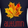 Old Vintage Autumn Leaf Fall Colors Color Leaves - Women's Long Sleeve Jersey T-Shirt