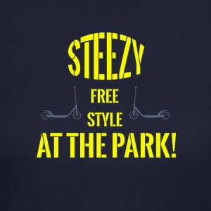 TSHIRT STEEZY FREE STYLE AT THE PARK LEGIT! - Women's Long Sleeve Jersey T-Shirt