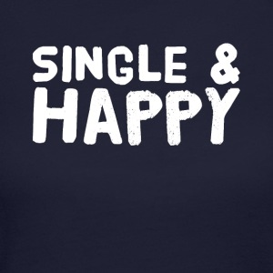 Single and happy - Women's Long Sleeve Jersey T-Shirt