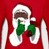 African American Santa Black Santa Clause - Women's Long Sleeve Jersey T-Shirt