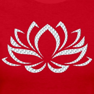 Silver Lotus Flower - Women's Long Sleeve Jersey T-Shirt