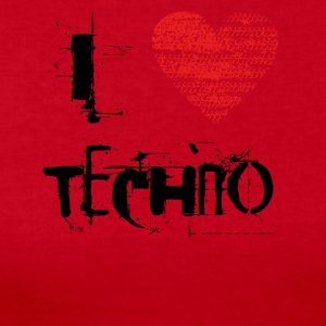 I love techno rave goa hardtek schwarz - Women's Long Sleeve Jersey T-Shirt