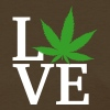 I love weed - Women's T-Shirt