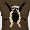 Funny Cute Baby PUG Carrier with Strap On - Women's T-Shirt