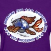 American Fish, Red White and blue Fish, By FabSpark - Women's T-Shirt