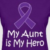 Alzheimers Lupus Pancreatic Cancer Aunt Is My Hero - Women's T-Shirt
