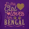 This Girl Loves Her Bengal Cat - Women's T-Shirt
