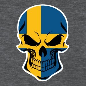 Swedish Flag Skull - Women's T-Shirt