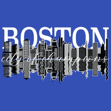 Boston - City of Lights - USA - Massachusetts Women's 3/4 Sleeve Shirt -  white
