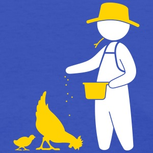 Farmer Feeding The Chickens - Women's T-Shirt