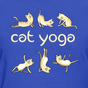 yoga Cat kitty gym fun humor meditation namaste lo - Women's T-Shirt