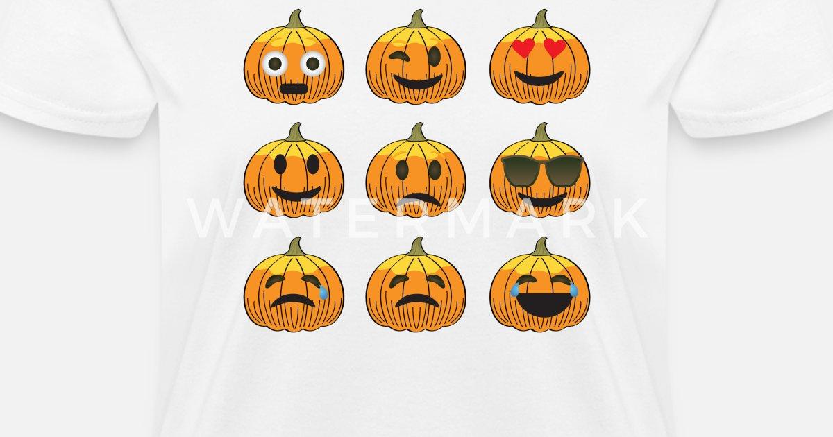 Halloween Pumpkin Emoticon Women's T-Shirt