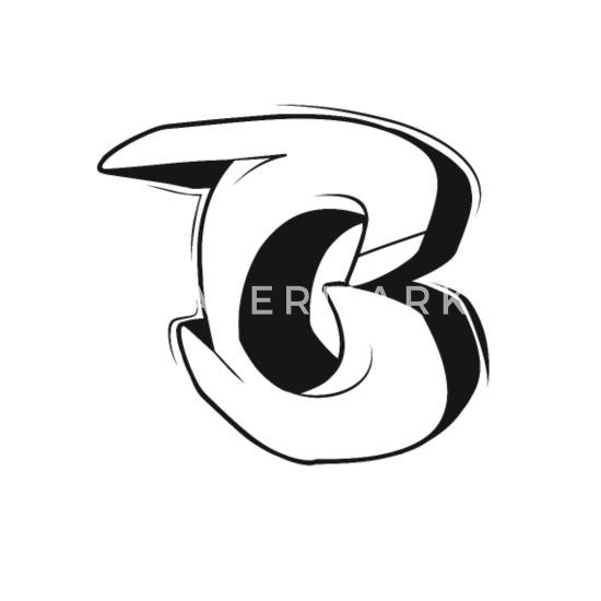 C Graffiti Letters Initial Alphabet Gift Women S T Shirt White