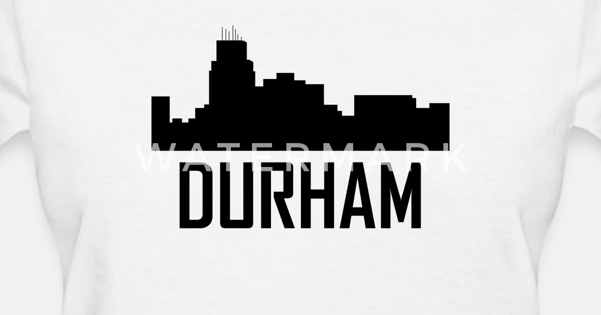 Durham North Carolina City Skyline By Awesome Shirts Spreadshirt