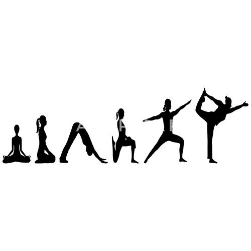 7282a580 Yoga Evolution vector - Women's T-Shirt. Front. Front. Back. Back. Design