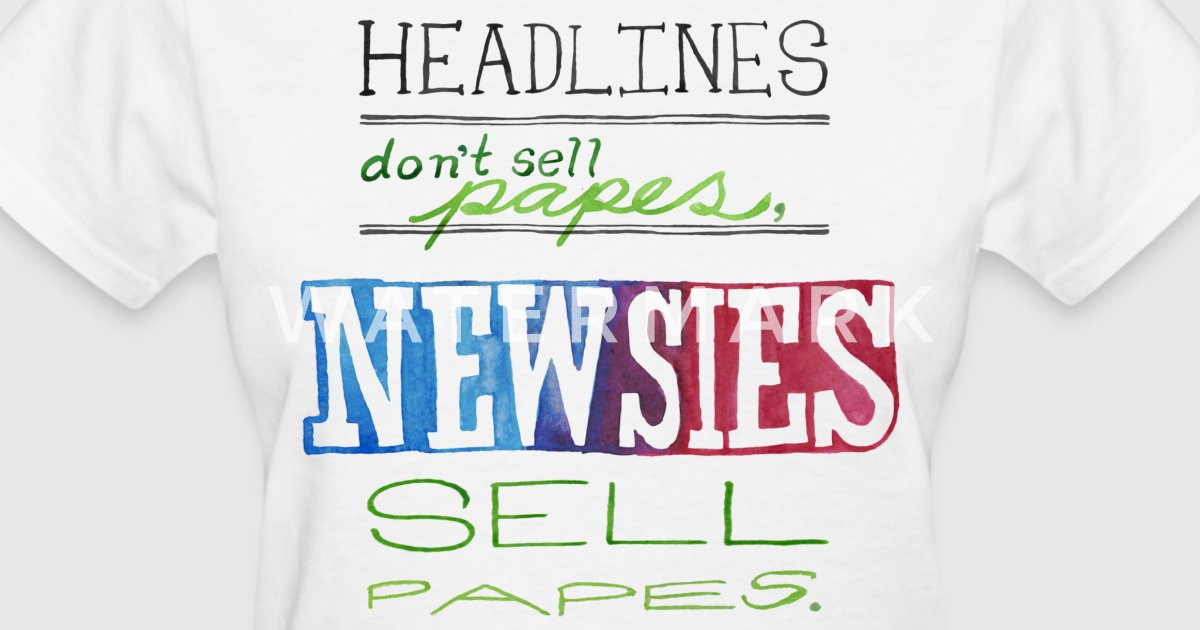 Newsies Sell Papes By Myprettycabinet Spreadshirt