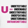 U=U Undetectable = Untransmittable - Women's T-Shirt