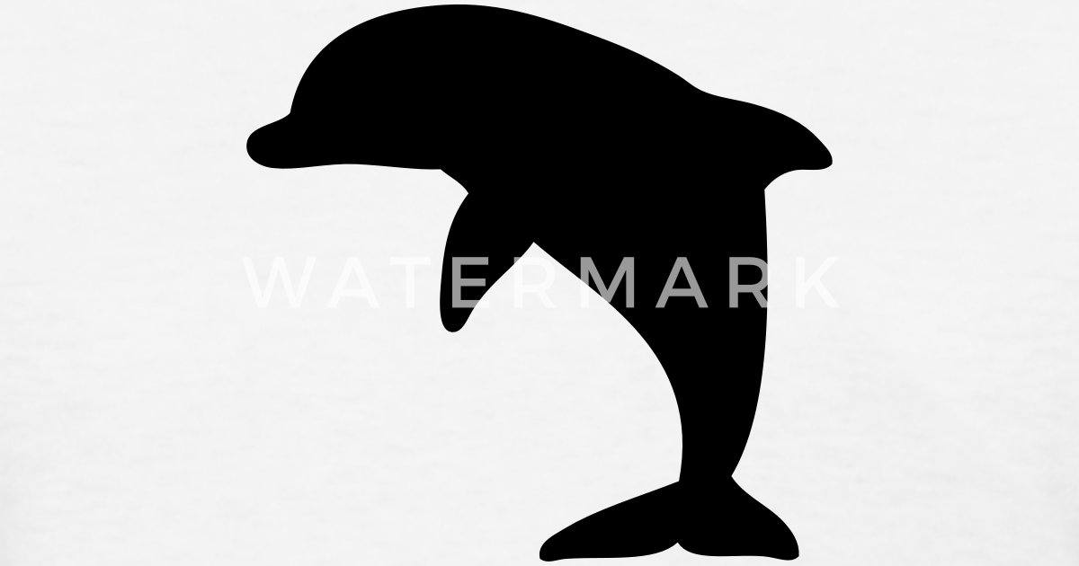 dolphin silhouette by azza1070 spreadshirt