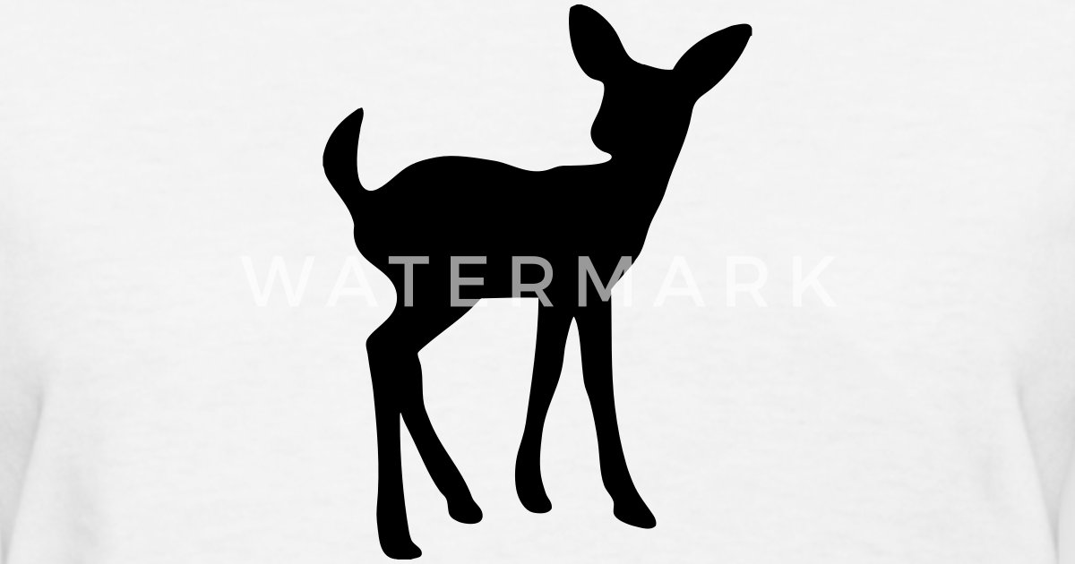 Fawn Baby Deer Silhouette By Azza1070 Spreadshirt