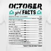 October Girl Facts Libra - Women's T-Shirt