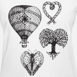 Heart shaped drawings