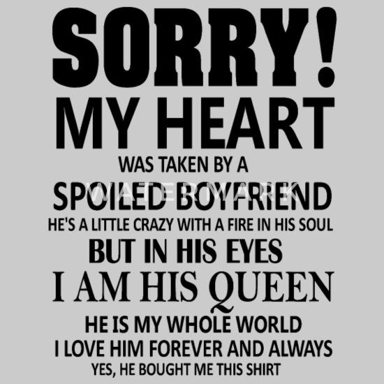 Boyfriend sorry for my 40 Encouraging