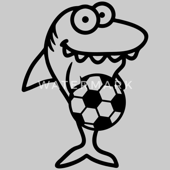 Hai Fussball Verein Club Fan Ball Einwurf Lustig Co Women S T