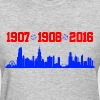 cubs chicago skyline - Women's T-Shirt