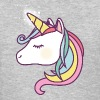 Cute Unicorn with Rainbow Colors, Unicorns, Horses - Women's T-Shirt
