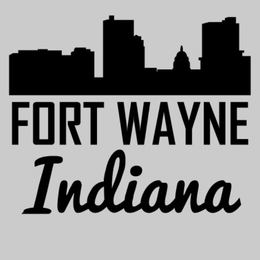 retro style fort wayne indiana skyline by awesome shirts spreadshirt