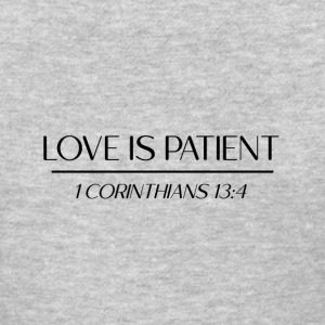 Love is Patient Corinthians Black
