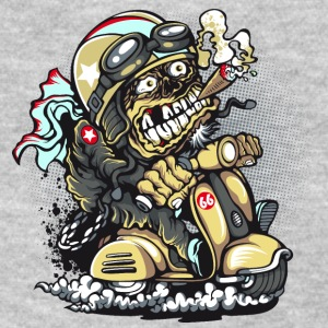 biker-scooter-cigar-cartoon-zombie-speed - Women's T-Shirt