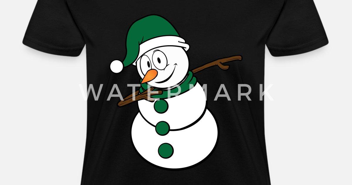 217a8c1a1cbb6 Dabbing Christmas Snowman Green Santa Hat by