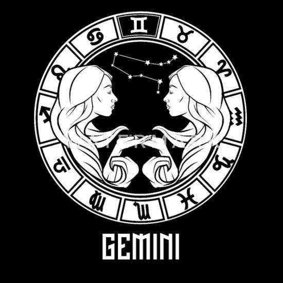 Gemini Zodiac Sign - May & June Birthday Gift Women's T-Shirt - black