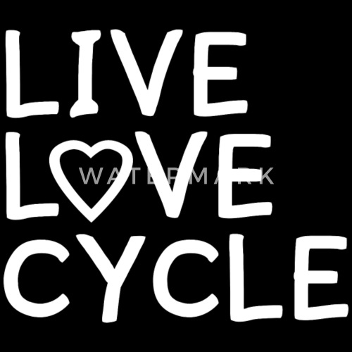 Love Love Cycle Heart Cycling Bike Bicycle Gift By Spreadshirt