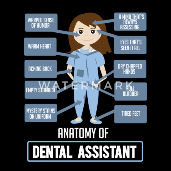 Funny Dentist Quote - Anatomy of Dental Assistant Women\'s T ...